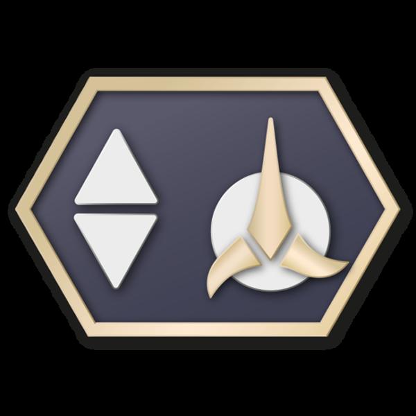 Klingon communicator insignia 2260s