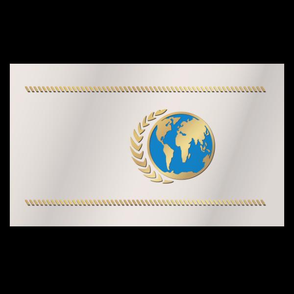 United earth flag corrected