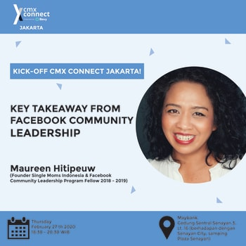 CMX Connect Jakarta - Key Takeaway from Facebook Community Leadership