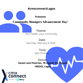 Community Managers Advancement Day  : Your Health, Your Community.