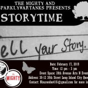 """The Mighty and SparklyWarTanks Presents """"Storytime"""""""