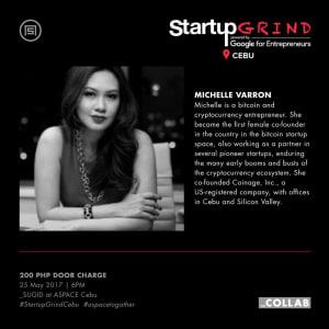Startup Grind Cebu Hosts Michelle Varron and Toni Marie Despojo