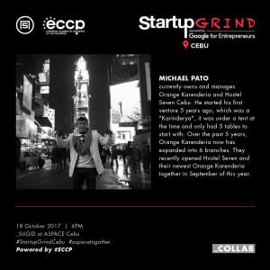 Startup Grind Cebu Hosts Michael Pato
