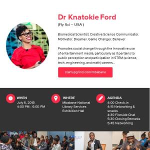 We are hosting Dr. Knatokie Ford