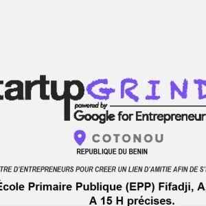We are Startup Grind Cotonou Chapter. Nous sommes le chapitre Startup Grind de Cotonou