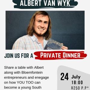 We are hosting Albert van Wyk!
