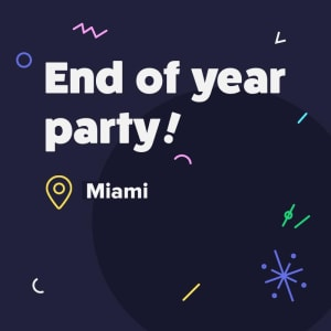 It's Winter Social Time in Miami - Have a drink on us