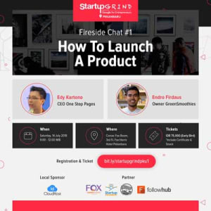 How to Launch a Product : Endro Firdaus (Owner GreenSmoothies) & Edy Kartono (One Stop Pages)