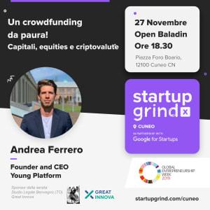 UN CROWDFUNDING DA PAURA!   Capitali, equity e critpovalute con Andrea Ferrero CEO di YOUNG PLATFORM