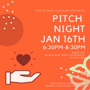 """ROC The Room """"Community"""" Pitch Night Competition @NextCorps Jan 16th 6:30pm-8:30pm"""