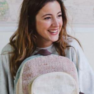 Handmade backpacks made in Nepal - Gloria Gubianas (Founder - Hemper)