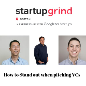 How to stand out when pitching VCs- Ziad Moukheiber, Lex Zhao, Rob McCall