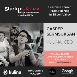 Lessons from Pitching in Silicon Valley with Casper (Kulina's Co-Founder & Blackbox Google Scholar)
