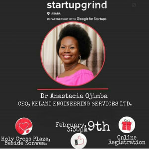 We are hosting Dr Anastacia Ojimba (Kelani Engineering Service Ltd)