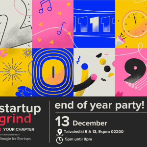 Startup Grind Helsinki End of the Year Party