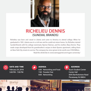 We are hosting Richelieu Dennis (Sundial Brands and Essence Magazine)