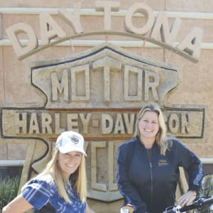 Shelly Rossmeyer Pepe & Mandy Rossmeyer of Bruce Rossmeyer's Daytona Harley-Davidson