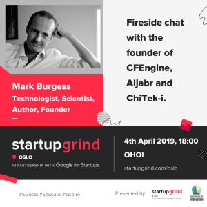 Fireside chat with Mark Burgess - founder of CFEngine, Aljabr and ChiTek-i.