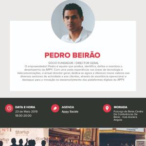 We are Hosting Pedro Beirão ( Director Geral Appy Saúde)