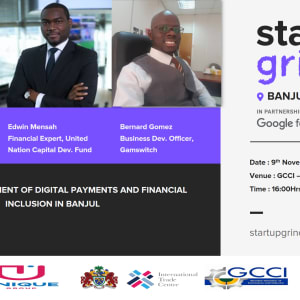 We are hosting Sira Ndow Edwin Mensah and Bernard Gomez on Development of Digital Payments in Banjul