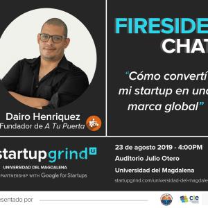 Fireside Chat con Dairo Henriquez, fundador de A Tu Puerta