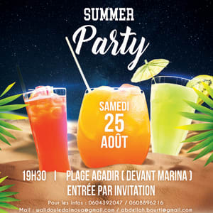 """Summer Party """"100 % Jeune """" by Startup Grind Agadir"""