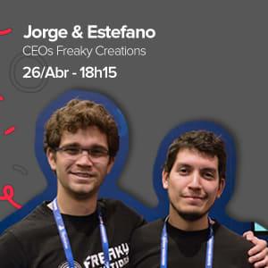 Jorge Blacio y Estefano Palacios Founders de FREAKY CREATIONS #GeekLeaders