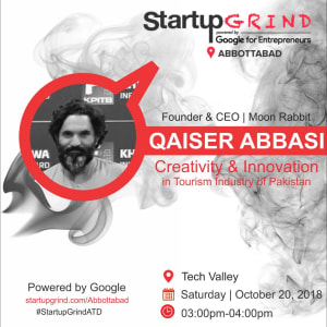 Startup Grind with Qaiser Abbasi, Founder MoonRabbit