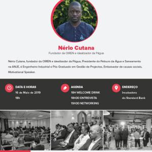 Nério Cutana na Incubadora do Standard Bank em Maputo