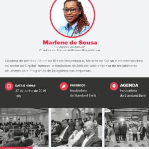 We are hosting Marlena de Sousa at Standard Bank Incubator in Maputo
