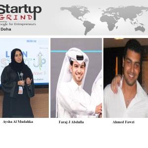 Aysha, Faraj, Ahmed (Qatar Business Incubation Center)