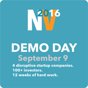 DEMO DAY - SEPTEMBER 9th (NEW VENTURES 2016)