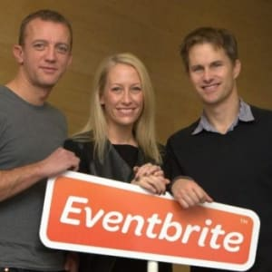 Renaud Visage, Kevin and Julia Hartz (Eventbrite)