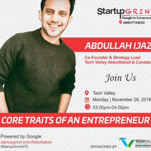 Startup Grind with Abdullah Ijaz, Co-Founder & Strategy Lead Tech Valley Abbottabad