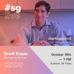 Live Streaming da Londra: Managing Partner of Andreessen Horowitz: Scott Kupor