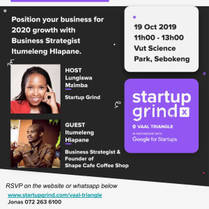 Position your business for 2020 growth with Business Strategist Mr Itumeleng Hlapane