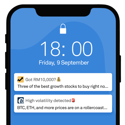 Mobile notifications for trading apps