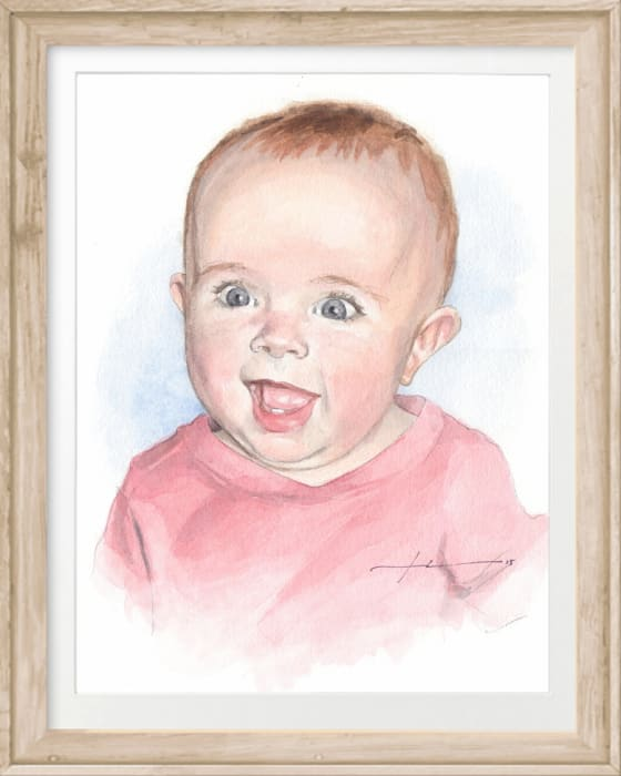 Mike Theuer Watercolor Pencil Portraits From Your Photos