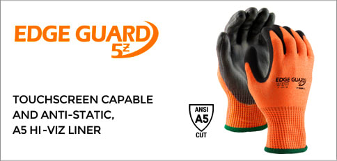 EdgeGuard 5z Cut Resistant Hi-Vis Orange Gloves