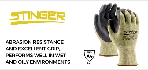 A4 Cut Resistant Stinger Gloves with Nitrile Coating