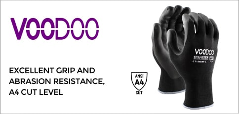 Voodoo Cut Resistant Gloves with Black Nitrile Coating