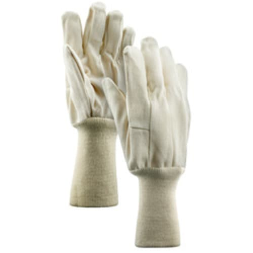 "10 oz. Cotton Single Palm Gloves with 6"" Knit Wrist Cuff"