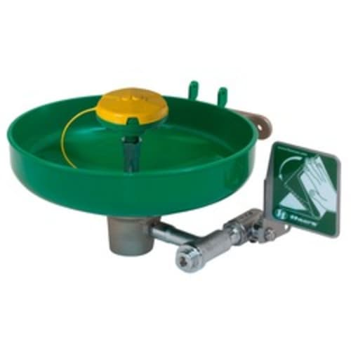 Wall mounted, plastic bowl eye/face wash with AXION