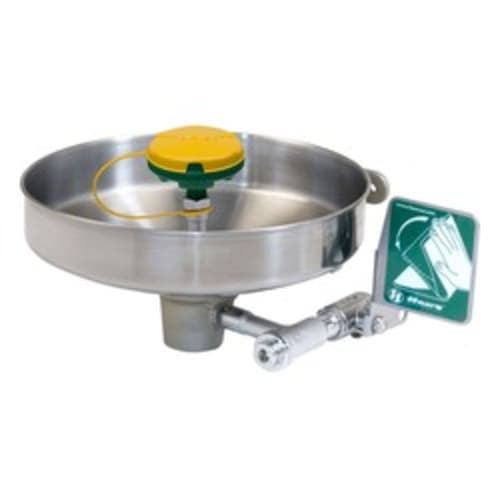 Wall mounted, stainless bowl, eye/face wash with AXION