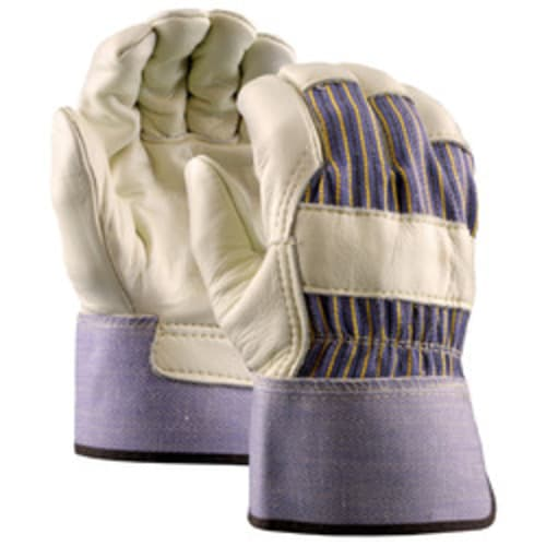 Grain Leather Palm Gloves with Safety Cuff, Premium Grade