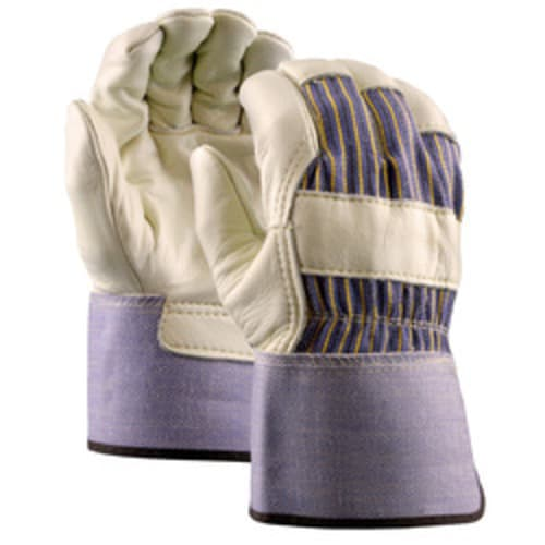 Grain Leather Palm Gloves with Gauntlet Cuff, Premium Grade