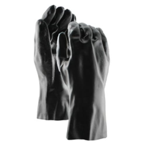 "Black PVC Coated 12"" Gloves"