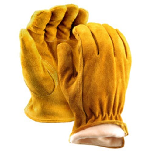 Thinsulate Lined Split Leather Drivers Gloves with Straight Thumb