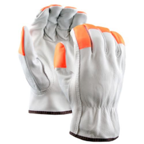 Leather Drivers Gloves with Hi-Vis Fingertips, Keystone Thumb