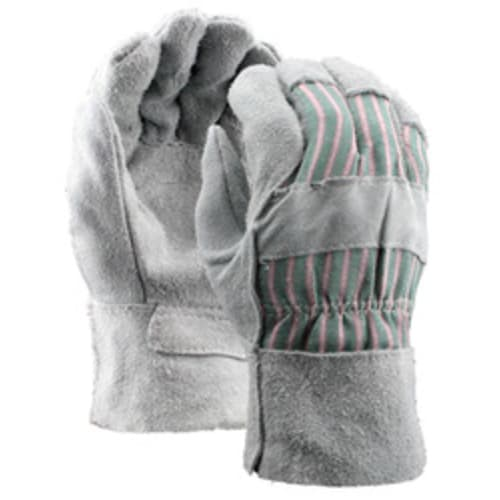 Leather Palm Gloves with Leather Safety Cuff, Split Shoulder